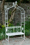 Single metal bench Royalty Free Stock Photo