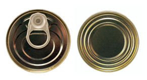 Single metal can Stock Image