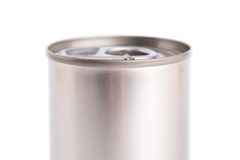 Single metal can isolated on white background Stock Photos