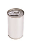 Single metal can  on white background Royalty Free Stock Image