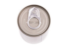 Single metal can  on white background Stock Images