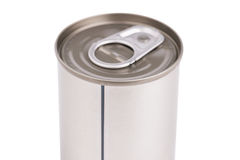 Single metal can  on white background Stock Photography
