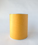 Single Metal Tin Can with Blank Abstract Brown Recycle Paper Covered used as Template to input Text for Food Storage Product Royalty Free Stock Photography