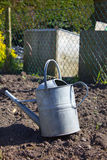 Single metal watering can Royalty Free Stock Image