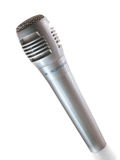 Single microphone. On a white background Stock Photography