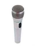 Single microphone. Microphone isolated on white background royalty free stock photos
