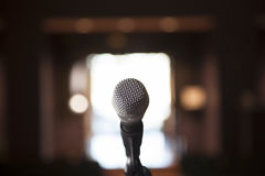 Single Microphone with Bocca Royalty Free Stock Photo