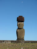 Single moai on Easter Island Stock Image