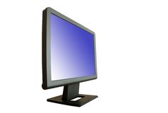 Single modern lcd display Stock Image