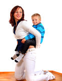 Single Mom And Her Boy Royalty Free Stock Photo
