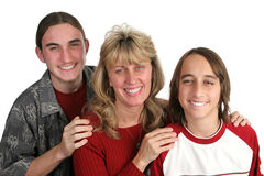 Single Mom & Sons Royalty Free Stock Images