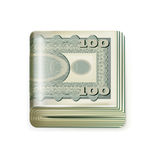 Single money stack folded  Royalty Free Stock Image