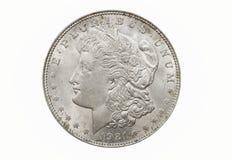 Single Morgan Dollar. A single and isolated Morgan Silver Dollar royalty free stock images