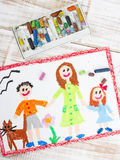 Single mother and kids Royalty Free Stock Photography