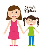 Single mother Stock Photography