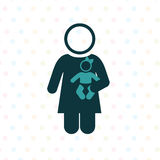 Single mother Royalty Free Stock Images