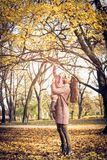 Nature. Mother and daughter playing in park. royalty free stock photo