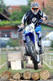 Single Motocross High Jumper in air Stock Photography