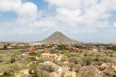 Single Mountain Rising on Aruba Royalty Free Stock Photography