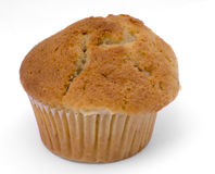Single muffin on white background. Close-up Royalty Free Stock Photography