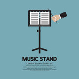 Single Music Stand With Conductor Stock Photography