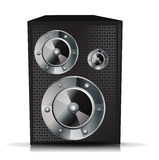 Single musical speaker isolated Royalty Free Stock Photos