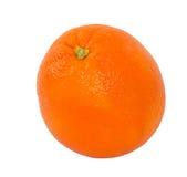 Single Navel Orange Isolated on White. Top view of a navel orange isolated on a white background royalty free stock photos