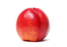 Single nectarine isolated Royalty Free Stock Image