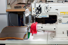 Single-needle lockstitch sewing machine Royalty Free Stock Images