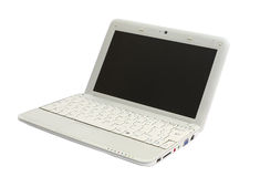Single netbook (laptop) Stock Photo
