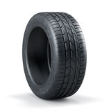 Single new unused car tire Royalty Free Stock Photos
