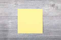 Single note in yellow Stock Photos