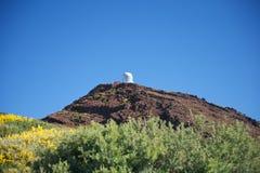 Single observatory. Roque de los Muchachos observatories at La Palma Canary Islands Spain Stock Photos