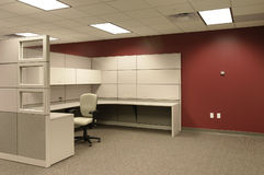 Single Office Cubical workspace royalty free stock photos