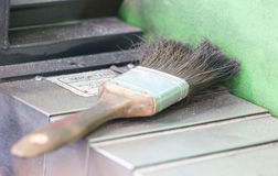 Single Old And Dirty Used Brush. Royalty Free Stock Photography