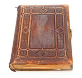 Single old leather bound book Royalty Free Stock Photos