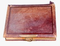 Single old leather bound book Royalty Free Stock Photo