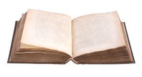 Single old leather bound book Stock Photography