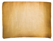 Single old sheet of paper. On white background royalty free stock images