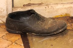 A Single Old Shoe Royalty Free Stock Photo