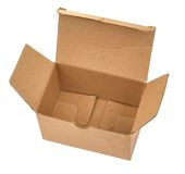 Single open cardboard #2 Stock Photo