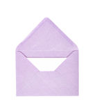 Single opened envelope isolated Royalty Free Stock Images