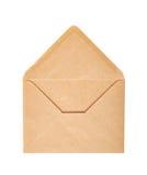 Single opened envelope isolated. Over the white background Stock Photo
