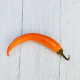 Single orange capsicum pepper Royalty Free Stock Photography