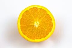 Single orange. Isolated on white background Royalty Free Stock Image