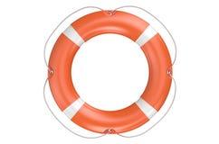 Single orange lifebuoy closeup Royalty Free Stock Photography