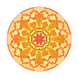 Single orange mandala Royalty Free Stock Images