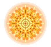 Single orange mandala Royalty Free Stock Photography