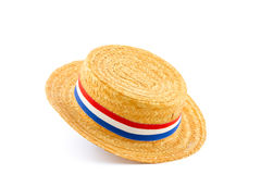 Single orange reed hat isolated Royalty Free Stock Photos