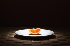 Single Organic Blood Orange slice Stock Images